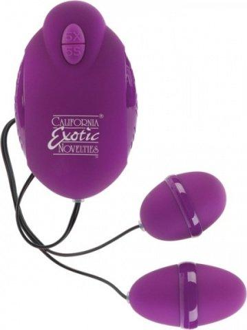 Фиолетовый двойной вибростимулятор advanced risque dual teasers, фото 4