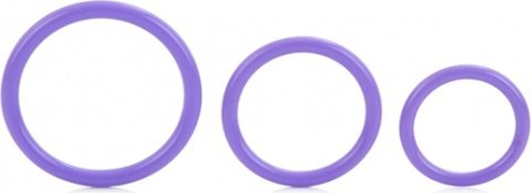 Набор: вибромас.-стимул. клитора(10 ф-ций), 3 эрекц. кольца разл. диам., анал. пробка, сил 9 см, фото 2