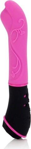 Розовый вибромассажер из силикона tantric aura massager