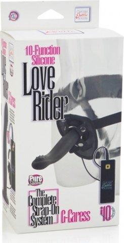Страпон женский rider g-caress, 10 ф-ций вибрац., g-spot стимул., силикон 16 см, фото 3