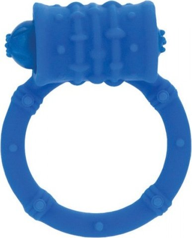 Стимулирующее кольцо с вибро-моторчиком синее posh, фото 2