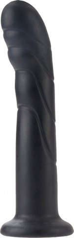 Черный силиконовый дилдо для страпона rippler 18 см