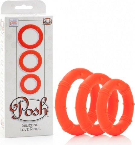 Три эрекционных кольца на пенис posh апельсиновые