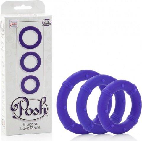 Три эрекционных кольца на пенис posh фиолетовые