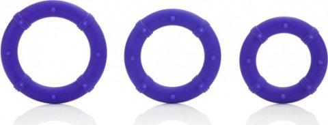 Три эрекционных кольца на пенис posh фиолетовые, фото 2