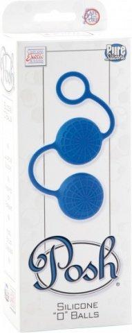 Яркие синие силиконовые вагинальные шарики с кружевным рисунком, фото 2