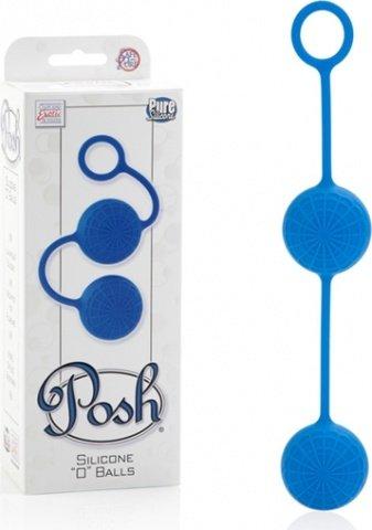Яркие синие силиконовые вагинальные шарики с кружевным рисунком, фото 3