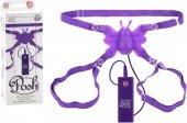 Силиконовая фиолетовая бабочка стимулятор на ремешках с 10 функциями | Вибро бабочки на трусиках | Интернет секс шоп Мир Оргазма