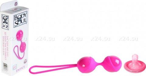 Розовый тренажер кегеля из силикона и пластика, фото 2