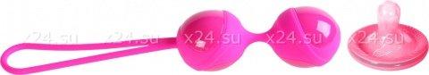 Розовый тренажер кегеля из силикона и пластика, фото 3