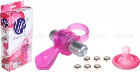 Эрекционное кольцо с вибрацией (розовое), фото 2