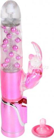 Розовый хай-тек вибратор Enchanted Bunny 26 см
