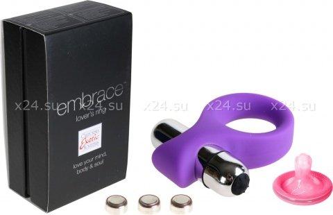Эрекционное мощное вибро-кольцо embrace (7 режимов)