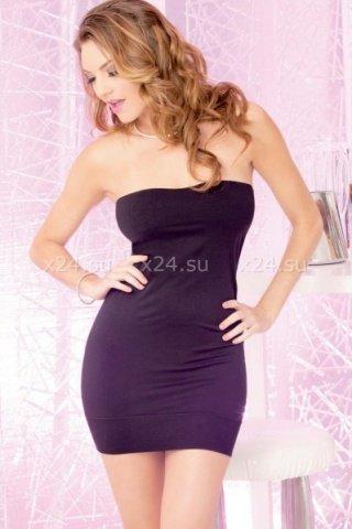 Платье без бретелей черное, фото 2