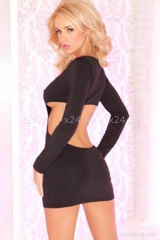Платье с рукавами черное, фото 4