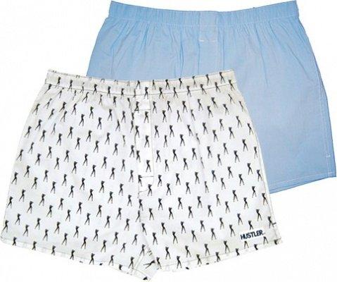Пара мужских трусов-шортов hustler - голубые и белые xl