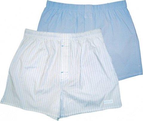 Голубые и белые трусы-шорты hustler xl