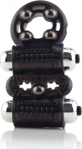 Кольцо на член и мошонку с магнитами Man Craze и двойными вибраторами, фото 4