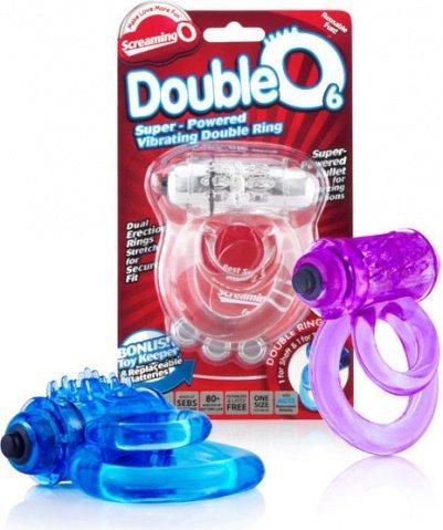Двойное виброкольцо со стимулятором клитора doubleo 6