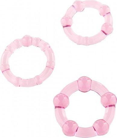 Набор силиконовых колец 3 шт розовый