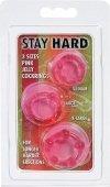 Набор силиконовых колец 3 шт розовый | Эрекционные кольца без вибрации | Секс-шоп Мир Оргазма
