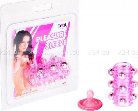Насадка с шариками розовая