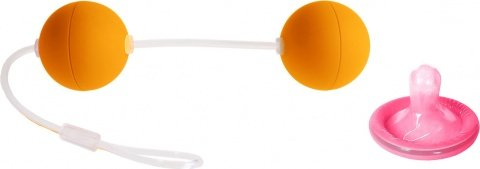 Шарики оранжевые со смещенным центром тяжести Funny Five, фото 2