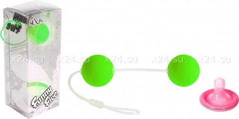 Шарики вагинальные 11 см зеленые, фото 2