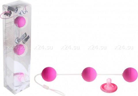 Трехрядные анальные шарики фиолетовые Funny Five, фото 2