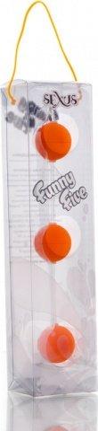 Трехрядные анальные шарики оранжевые Funny Five, фото 3