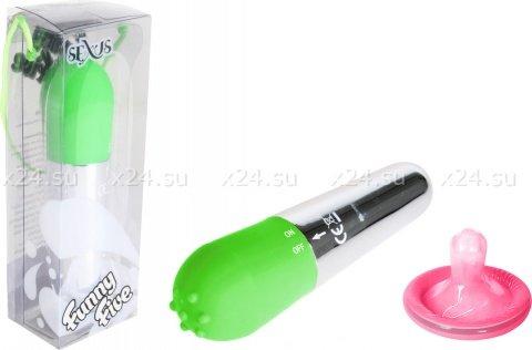 Вибромасажер зеленый Funny Five, фото 2