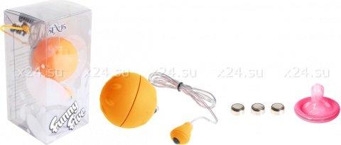 Виброяйцо оранжевое водонепроницаемое Funny Five, фото 2