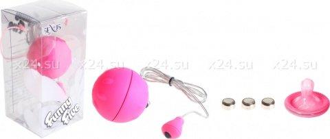 Виброяйцо розовое водонепроницаемое Funny Five, фото 3
