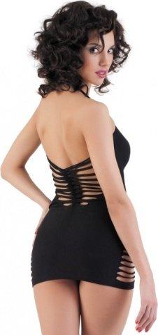 Бесшовное матовое платье с разрезами, фото 4