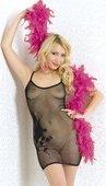 Платье в сеточку с вышивкой - Секс-шоп Мир Оргазма