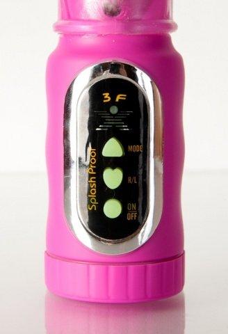Вибратор водонепроницаемый с клиторальным стимулятором, фото 3