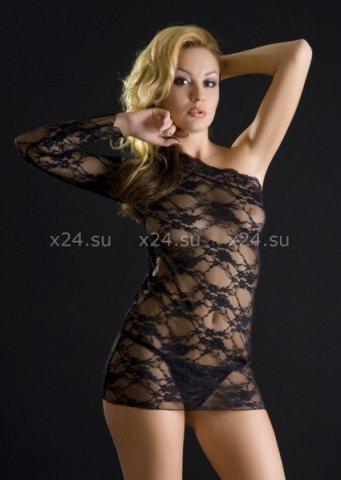 Платье черное со стрингами