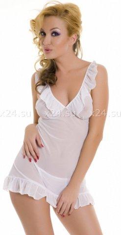 Мини-платье с рюшами и со стрингами
