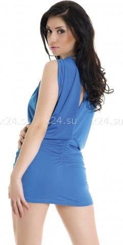 Платье стрейчевое голубое, фото 2
