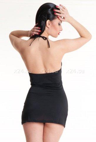 Платье стрейчевое черное, фото 2