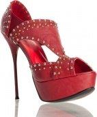 Купить женская обувь. Туфли бордовые с заклепками 36. Круглосуточный сексшоп.