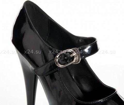 Туфли лакированные черные 37, фото 3