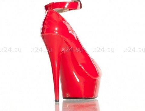 Туфли лакированные красные 36, фото 2