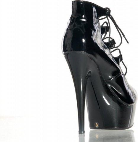 Туфли черные лакированные на шнуровке 38, фото 2