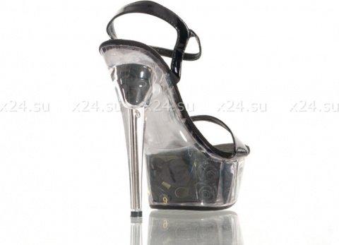 Туфли черные лакированные с розочками 39, фото 2