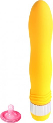 Вибратор большой желтый водонепроницаемый Funny Five