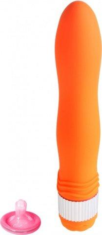 Вибратор большой оранжевый водонепроницаемый Funny Five