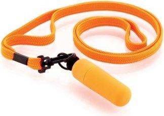 Мини-вибратор оранжевый на шнурке Funny Five, фото 3