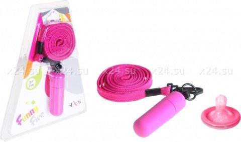 Мини-вибратор фиолетовый на шнурке Funny Five, фото 2