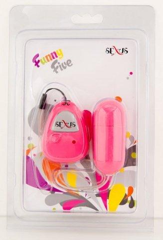 Виброяйцо розовое на дистанционном пульте управления Funny Five, фото 3